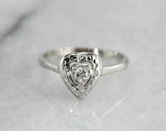 Sweetheart Diamond Engagement Ring EPE4CW-N