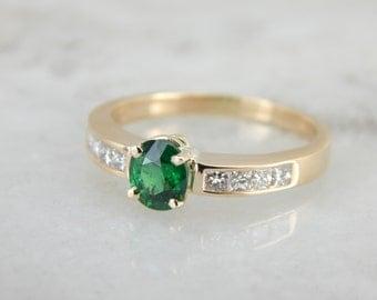 Tsavorite Green Garnet for Engagement or Everyday RJU66Y-N