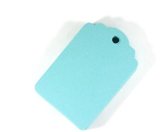 Aqua Gift Tags Set of 20 - Blank Gift Tags - Party Favor Tags - Wedding Tags - Hang Tags - Pool Blue Tags - Robin's Egg Blue Shower