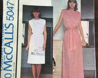 Vintage 70s Misses' Dress Pattern // McCall's Make It Tonight 5047, sizes 14-16, sleeveless tunic