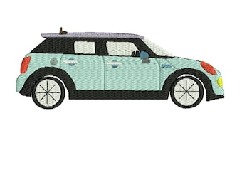 SALE PRICE. Dollar off SALE Mini Cooper 4 door embroidery design