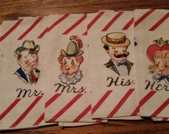 Vintage Set of 6 Napkins