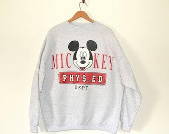 Mickey Mouse Jumper - 80s Disney Sweatshirt - Vintage Oversized Mickey Athletic Sweatshirt - Tourist Jumper - Normcore Sweatshirt