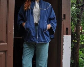 Vintage Jean Cape Coat