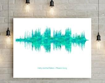 Soundwave art print - music gifts - song lyrics soundwave art - music lyrics print - gift for music lover - first dance print - soundwave