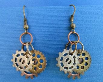 Charming Gear Dangle Earrings