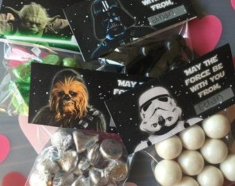 INSTANT DOWNLOAD Star Wars Darkside and Lightside Printable Birthday Favor Bag Topper