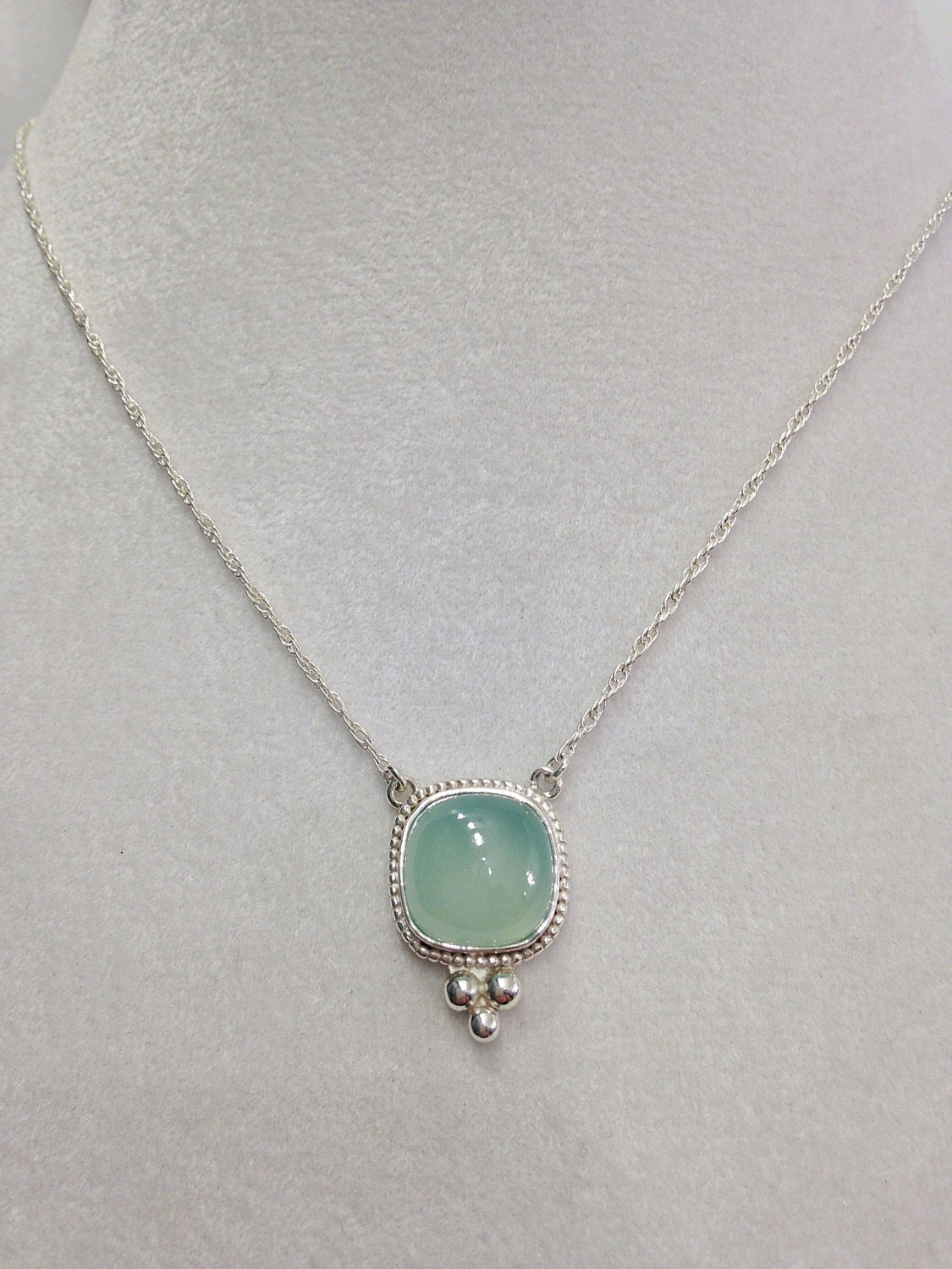 sterling silver chalcedony necklace with by