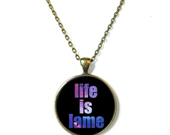 Galaxy Life is Lame Necklace, Feminist Soft Grunge Nu Pastel Goth C*nt Jewelry Rude Mean Insult Girl Power Jewelry