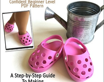 Pixie Faire Miche Designs No-Sew Foam Clogs Doll Shoe Pattern for 18 inch American Girl Dolls - PDF