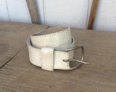 Vintage Tooled Leather Belt  Size 34 to 39