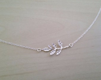 Delicate tree branch .925 sterling silver necklace