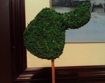 English Riding Saddle Topiary Silhouette in the Equestrian Topiary Collection.