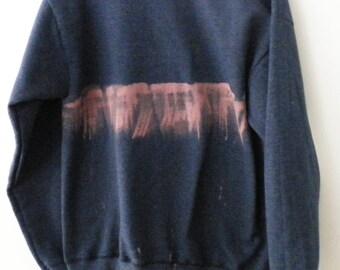 Blue and Pink tie dye sweatshirt, Acid wash, crewneck sweatshirt, Dip dye, Jumper, Sweater, Rocker, Graphic, Gift under 35, Cyber Monday
