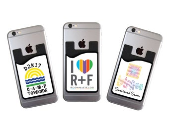 Custom Cell Phone Card Caddy Phone Wallet With Your Logo Card Holder ID Credit Card Student ID Marketing Promotional Item For Your Business