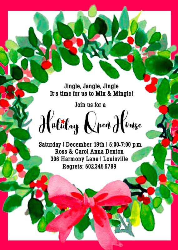 It's just a picture of Fabulous Printable Holiday Invites