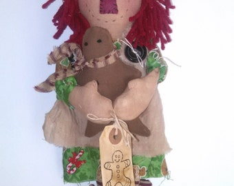 Ginger Annie,primitive gingerbread doll