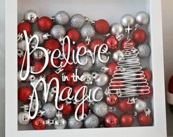 Believe in the Magic- Christmas - Holiday Vinyl Sticker - Decal Only!