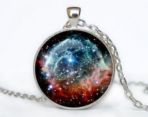 Thors Helmet Nebula   Pendant  Nebula Thors Helmet Nebula Necklace Galaxy necklace Space universe pendant  Necklace for him  Art Gifts