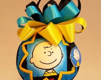 Charlie Brown Fabric Quilted Ornaments, Peanuts, Grab Bag Gifts, Secret Santa, Hostess Gifts, Ornaments, Christmas, Cartoons, Retro