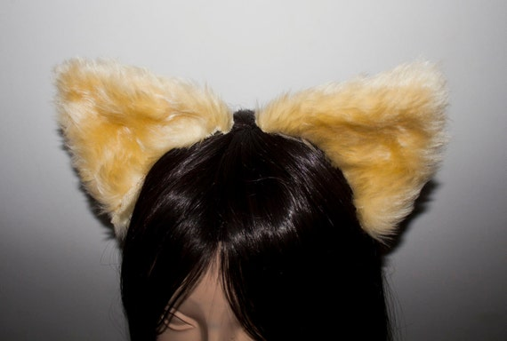 Cream Cat Cosplay Ears and Tail