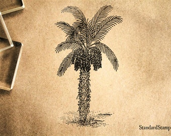 Date Palm Rubber Stamp - 2 x 3 inches