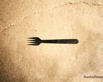 Fork Rubber Stamp - 2 x 2 inches