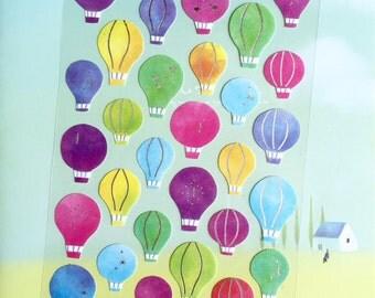 hot air balloon sticker colorful hot air balloon decorations sticker Hot Air  Ballooning travel planner sticker balloons Sticker deco