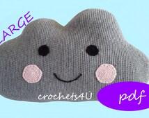 crochet pattern cloud, cloud pillow, nursery, crochet pillow cloud, decorate, baby