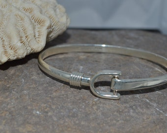 Sterling Silver Equestrian Bangle Bracelet