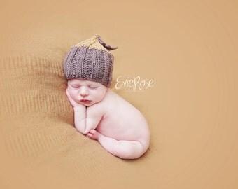 Newborn Knit Pattern, Newborn Knitting Pattern, Photo Prop Pattern, Newborn Prop Pattern, Baby Hat Pattern, Acorn Hat, Acorn Beanie