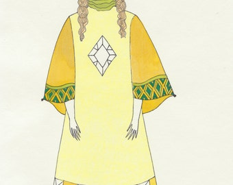 Mild Witch A4 Original Illustration