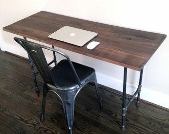 "The ""Ashburn"" Desk - Reclaimed Wood & Pipe"
