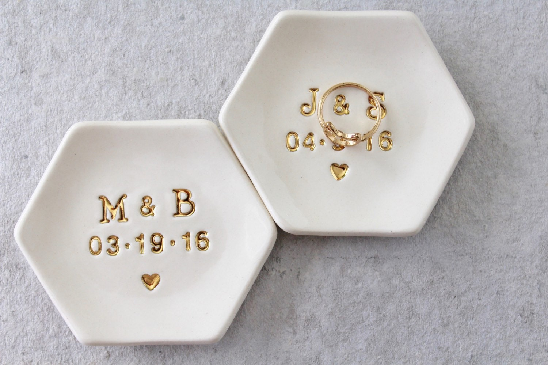Initial Date Ring Dish