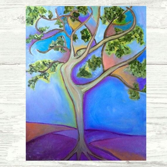 The Dancing Tree Original Artwork by Alla Gerzon Gift for Dancer