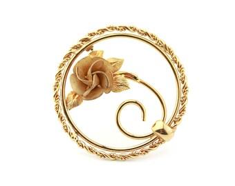1/20 12k Gold Filled Rose Brooch / b16