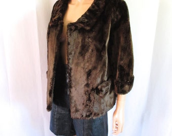 1950s Saks Fifth Avenue Sheared Beaver Jacket S/M