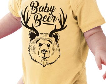 "Craft Beer Baby Bodysuit- ""Baby Beer""- Premium Screen Printed"