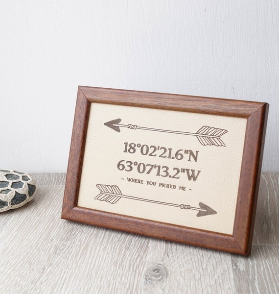 3rd Wedding Anniversary Gift Leather Wedding Sign Engraved