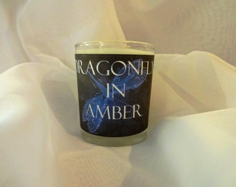 Dragonfly in Amber Soy Wax Votive -  Sassenach Candle, Claire Fraser Candle