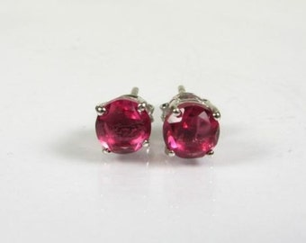 Gift For Her,2ct Pink Topaz Studs,7mm ,Topaz Jewelry,,Pink Topaz Earrings Studs ,Sterling Silver,Pink Lady,Pink Topaz Ring