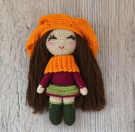 Kawaii Crochet Doll Cute Amigurumi Girl Little Crochet Toy