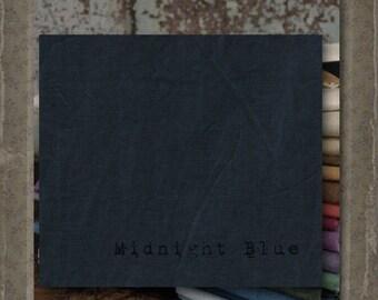 Fabric 1 YARD: Aged Muslin Cloth (New) - Midnight Blue 9667 Marcus Fabrics