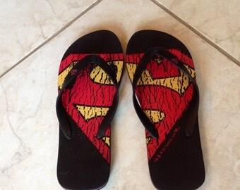 Superman  flip flops Size M13
