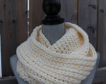"""Knit Look Super Soft Chunky 60"""" Crochet Infinity Scarf - MANY COLORS"""