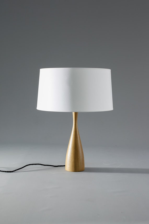 modern wood table lamp with shade scandinavian design. Black Bedroom Furniture Sets. Home Design Ideas