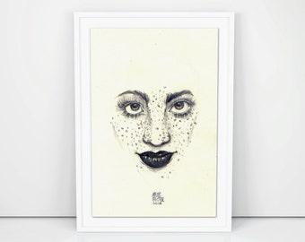 Printable Illustration Freckles 02 by AleMcAllister