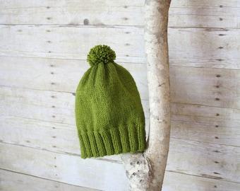 SUMMER SALE - The Ashland Knitted Beanie - Green