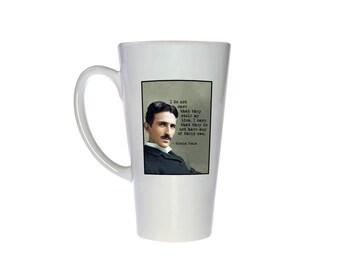 Nikola Tesla Quote- 17 oz Tall Latte Geek Mug