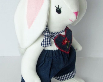 Lorelei the Rabbit with Denim Outfit